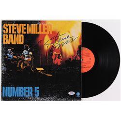 """Steve Miller Signed """"Number 5"""" Vinyl Album Cover (PSA COA)"""