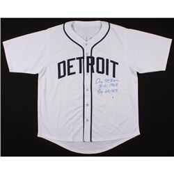 "Denny McLain Signed Jersey Inscribed ""31-6, 1968""  ""CY 68/69"" (Hollywood Collectibles COA)"