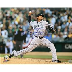 "Felix Hernandez Signed Seattle Mariners 16x20 Photo Inscribed ""Cy Young 2010"" (JSA COA)"