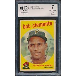 1959 Topps #478 Roberto Clemente (BCCG 7)