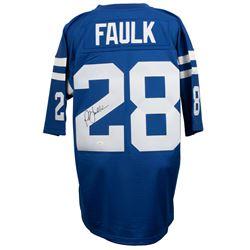 Marshall Faulk Signed Mitchell  Ness Indianapolis Colts Jersey (JSA COA)