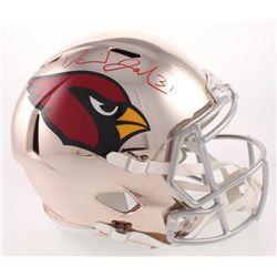 David Johnson Signed Arizona Cardinals Full-Size Chrome Speed Helmet (Beckett COA)