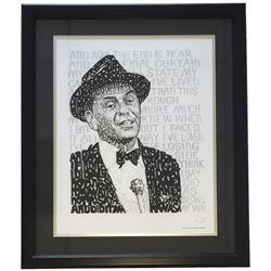 "Frank Sinatra ""Word Art"" 22x27 Custom Framed Photo Display"