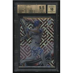 2016 Topps High Tek Autographs Red Orbit Diffractor RC #HTCSE Corey Seager #5/5 (BGS 9.5)