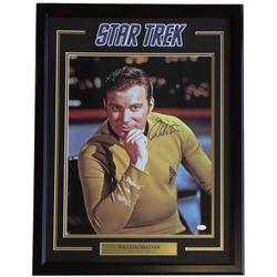 "William Shatner Signed ""Star Trek"" 22x29 Custom Framed Photo Display (JSA COA)"