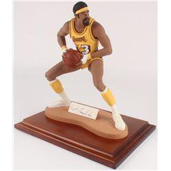Wilt Chamberlain Signed Los Angeles Lakers Figurine (Sports Porcelains COA)