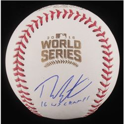 "Theo Epstein Signed 2016 World Series Logo Baseball Inscribed ""16 WS Champs"" (Schwartz COA)"