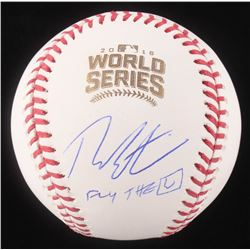 "Theo Epstein Signed 2016 World Series Logo Baseball Inscribed ""Fly The W"" (Schwartz COA)"