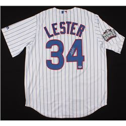 Jon Lester Signed Chicago Cubs Jersey with 2016 World Series Patch (PSA COA)