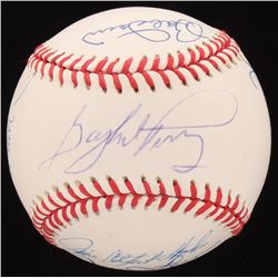"MLB Hall of Famers OAL Baseball Signed by (13) with Jim ""Catfish"" Hunter, Bob Gibson, Brooks Robinso"