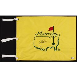 Jack Nicklaus Signed Masters Tournament Golf Pin Flag (Beckett LOA)