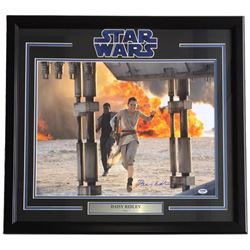 "Daisy Ridley Signed ""Star Wars: The Force Awakens"" 24x30 Custom Framed Photo Display (PSA Hologram)"