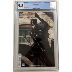 """2018 """"Catwoman"""" Issue #1 Stanley 'Artgerm' Lau Variant DC Comic Book (CGC 9.8)"""