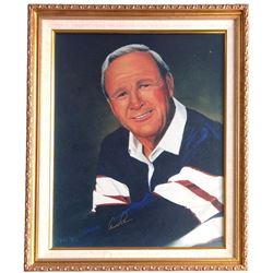 Arnold Palmer Signed 20x24 Custom Framed Painting (Beckett LOA)
