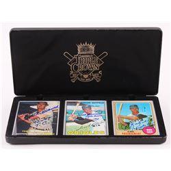 Lot of (3) Ted Williams, Frank Robinson  Carl Yastrzemski Signed LE Porcelain Baseball Cards with Di