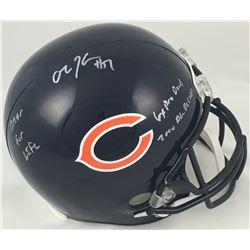 "Olin Kreutz Signed Chicago Bears Full-Size Helmet Inscribed ""6X Pro Bowl"", ""2000s All-Decade""  ""Bear"