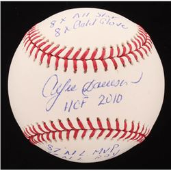 Andre Dawson Signed OML Baseball Inscribed with (5) Career Stats (Hollywood Collectibles COA)