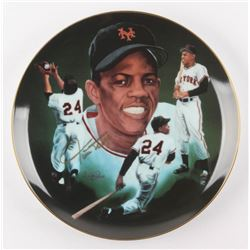 """Willie Mays Signed LE """"Signature Edition"""" Porcelain Plate (Hackett Authentic)"""
