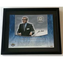 John Wooden Signed 15x18 Custom Framed LE Photo (UDA COA)