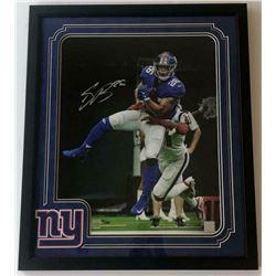 Saquon Barkley Signed New York Giants 16x20 Custom Framed LE Photo (Panini COA)
