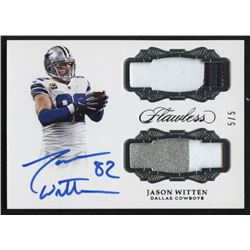 2017 Panini Flawless Dual Patch Autographs Silver #5 Jason Witten #5/5
