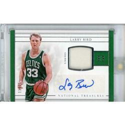 2016-17 Panini National Treasures Material Treasures Signatures #26 Larry Bird