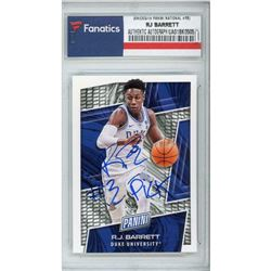 "RJ Barrett Signed 2019 Panini National Convention College #RB Inscribed ""#3 Pick"" (Fanatics Encapsul"