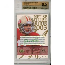2003 SP Signature Autographs Green Ink #JM Joe Montana (BGS 9.5)