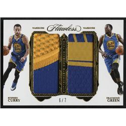 2016-17 Panini Flawless Dual Diamond Memorabilia Gold #14 Draymond Green / Stephen Curry #6/7