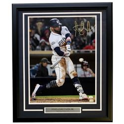 Fernando Tatis Jr. Signed San Diego Padres 22x27 Custom Framed Photo Display (JSA COA)