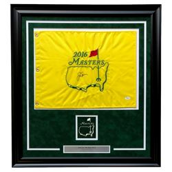 Jack Nicklaus Signed 2016 Masters 26x28 Custom Framed Golf Flag Display (JSA LOA)