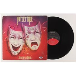 "Nikki Sixx, Vince Neil,  Tommy Lee Signed Motley Crue ""Theatre of Pain"" Vinyl Record Album (PSA Holo"