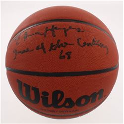 "Elvin Hayes Signed NCAA Basketball Inscribed ""Game of the Century '68"" (Schwartz COA)"