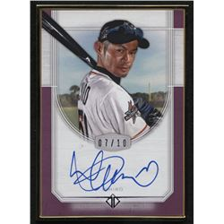 2017 Topps Transcendent Autographs Purple #TCAI Ichiro / White Jersey with Bat #07/10