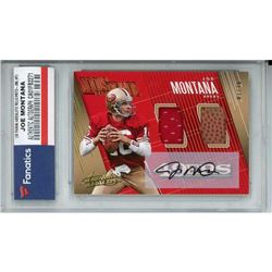 2018 Absolute Tools of the Trade Dual Material Autographs #34 Joe Montana (Fanatics Encapsulated)