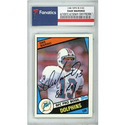 "Dan Marino Signed 1984 Topps #123 RC Inscribed ""83 ROY"" (Fanatics Encapsulated)"