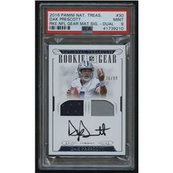 2016 Panini National Treasures Rookie NFL Gear Dual Material Signatures #30 Dak Prescott #36/99 (PSA