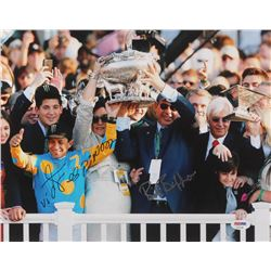 Victor Espinoza  Bob Baffert Signed 11x14 Photo (PSA Hologram)