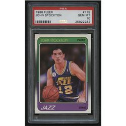 1988 Fleer #115 John Stockton RC (PSA 10)