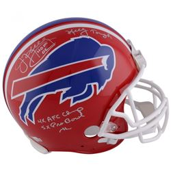 Jim Kelly Signed Buffalo Bills LE Full-Size Authentic On-Field Helmet with Multiple Stat Inscription