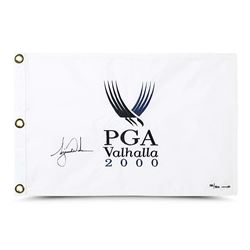 Tiger Woods Signed 2000 PGA Tour LE Pin Flag (UDA COA)