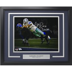 Ezekiel Elliott Signed Dallas Cowboys 16x20 Custom Framed Photo Display (Fanatics Hologram)