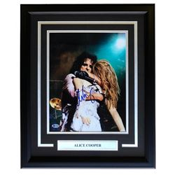 Alice Cooper Signed 16x20 Custom Framed Photo Display (Beckett COA)
