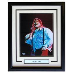 Meat Loaf Signed 16x20 Custom Framed Photo Display (Beckett COA)