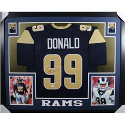 Aaron Donald Signed 35x43 Custom Framed Jersey (JSA Hologram)