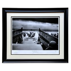 "Historical Photo Archive - World War II ""D-Day"" Limited Edition 23x28 Custom Framed Fine Art Giclee"