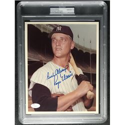 "Roger Maris Signed New York Yankees 8x10 Photo Inscribed ""Best Always"" (PSA Encapsulated  JSA LOA)"