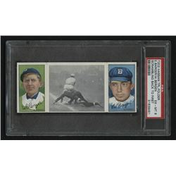 1912 Hassan Triple Folders T202 #103 Scrambling Back to First / Cy Barger / Bill Bergen (PSA 6)