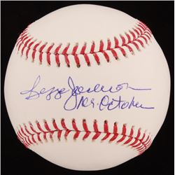 "Reggie Jackson Signed OML Baseball Inscribed ""Mr. October"" (AIV COA)"