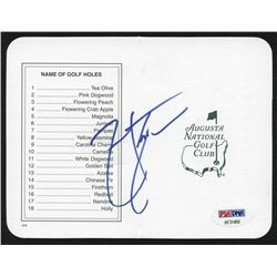 "Zach Johnson Signed ""Masters"" Augusta National Golf Club Scorecard (PSA Hologram)"